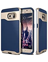 Galaxy S6 Edge case, Caseology [Wavelength Series] [Navy Blue] Textured Pattern Grip Cover [Shock Proof] Samsung Galaxy S6 Edge case