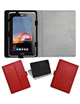 ACM LEATHER FLIP FLAP TABLET HOLDER CARRY CASE STAND COVER FOR HCL ME V1 RED