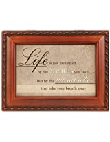 Cottage Garden Life Is Not Measured Music Musical Jewelry Box Plays Edelweiss