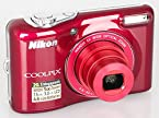 Nikon Coolpix L30 20.1 MP Point and Shoot Camera (Red) with 5x Optical Zoom, Memory Card and Camera Case