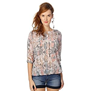 People Sheer Quirky Printed Top