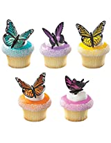 DecoPac Butterflies DecoPic Cupcake Picks (12 Count)