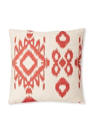 The Pillow Collection Gaera Ikat Decorative Pillow (Hot Pepper)