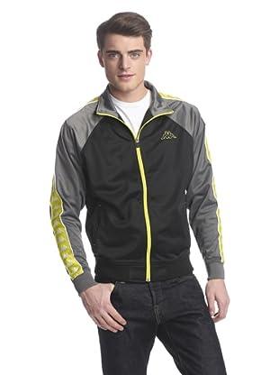 Kappa Men's Banda Tamag Jacket (Black/Grey)