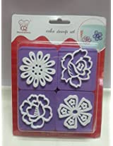Divena Set of 4PCs Cake Decoration Cake Stamp Set