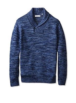 Alex Cannon Men's 5 Gauge Shawl Collar Sweater (Channel)