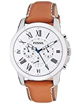 Fossil Grant Chronograph White Dial Men's Watch - FS5060I