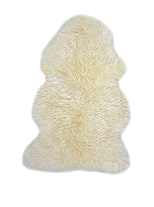 Natural Brand New Zealand Sheepskin Curly Rug, Natural, 2' x 3'