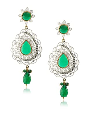 Rosena Sammi Green Crystal Drop Earrings