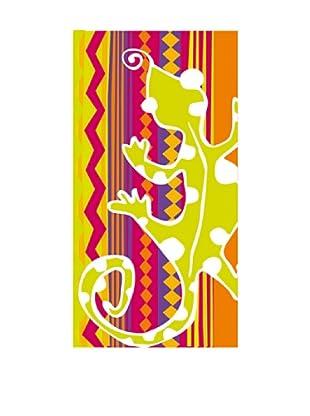Art Experience Toalla De Playa Lagarto Naranja 75 x 150