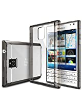 Rearth Ringke FUSION Series Passport Case [FREE Screen Protector/Drop Protection][SMOKE BLACK] Shock Absorption Bumper Premium Hard Case for Blackberry Passport - Eco/DIY Package