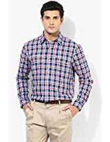 Blue Regular Fit Casual Shirt Allen Solly