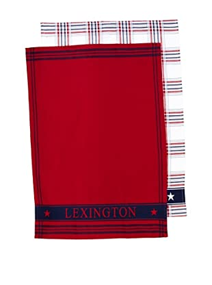Lexington Company Set De Paños Cuadros (Blanco / Rojo)