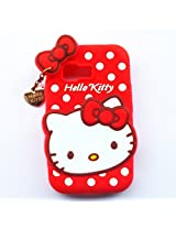 Hello Kitty With Pendant Silicone Back Case Cover For Samsung Galaxy Young 2 G130H