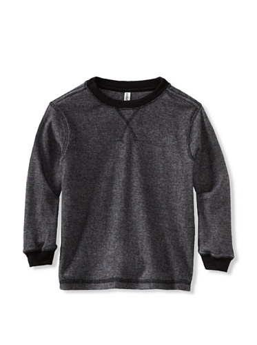 Colorfast Apparel Boy's Ribbed Thermal (Black)
