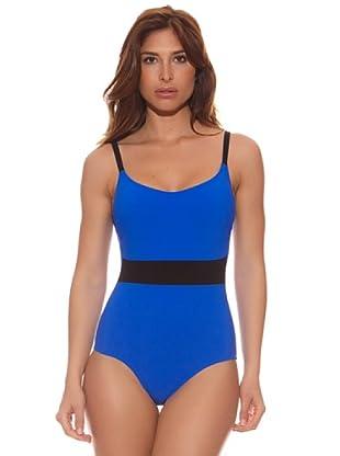 R&S Fashion Bañador Grace (Azul Eléctrico / Negro)