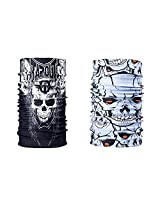 Combo Of Noise 13 in 1 Tapout Skull And Skull Ride Headwrap