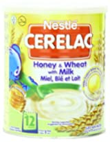 Nestle Cerelac - Honey And Wheat With Milk - 14.11-Ounce Cans Pack Of 4