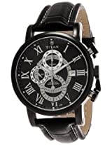 Titan Classique Chronograph Black Dial Men's Watch - NE9234NL01J