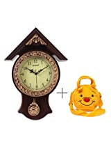 Bazaar Pirates Haveli Pendulum Clock (Brown)