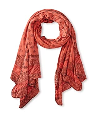 MILA Trends Women's Hand Block Print Jersey Scarf, Red