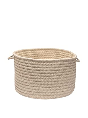 Colonial Mills Natural Wool Houndstooth Basket, (Cream)
