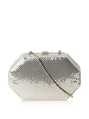 Whiting & Davis Women's Octagon Clutch (Silver)