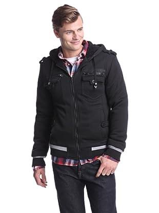 American Stitch Men's Zipped Pocket Hoodie (Black)
