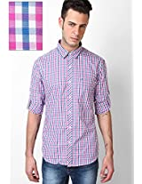 Pink Checks Casual Shirts John Players