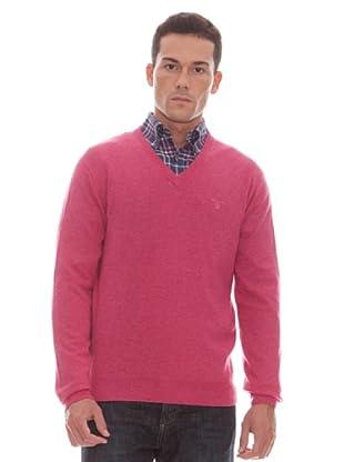 Gant Jersey Liso Pico (bermellón)