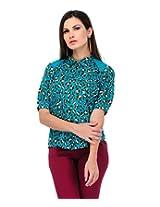 Yepme Women's Blue Polyester Tops YPMTOPS0424_L