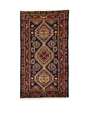 L'EDEN DEL TAPPETO Alfombra Azerbaijan Azul/Multicolor 118 x 162 cm
