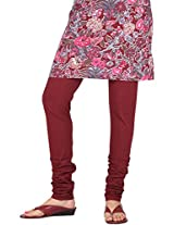 Stop Women's Knit Churidar (4595680-Red-Small)
