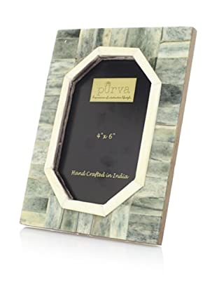 Purva Jade Hexagonal Cut Bone Photo Frame