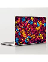 Theskinmantra Floral Mess Laptop Skin Decal