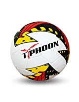 Nivia Typhoon Football, Size 5 (White)