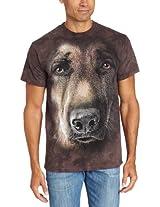 The Mountain Men's German Shepherd T-Shirt, Brown, Small