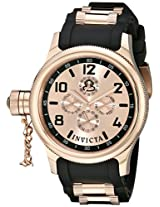 Invicta Men's 1804 Russian Diver Rose Dial Black Polyurethane Watch