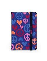 BUILT Neoprene Slim Cover for iPad mini, Summer of Love Indigo