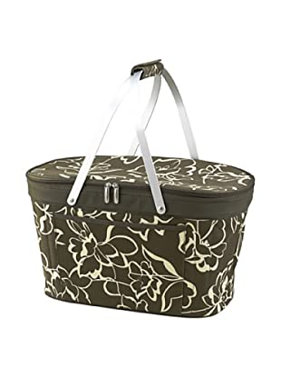 Picnic at Ascot Collapsible Basket Cooler (Olive Floral)