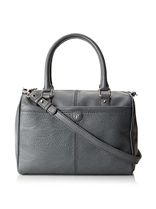 Charlotte Ronson Women's Cable Embossed Satchel (Granite)