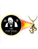 Dijyo Divine Darshan Gold Plated Chhatarpur Guruji Pendant