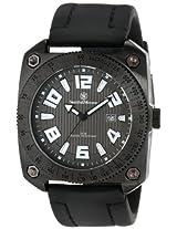 Smith & Wesson Men's SWW-5900-BLK Flight Deck Black Rubber Strap Watch