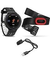 Garmin Forerunner 630 GPS Smartwatch w/ HRM-Run - Black/White - Charging Clip Bundle includes Forerunner 630 GPS, HRM-Run and Charging Clip