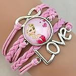 Frozen Girls Pink Love Bracelet Wristband For Girls Best Gift