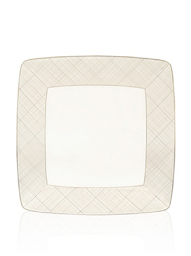 Noritake Everyday Elegance Veneto Large Square Plate (White/Taupe)