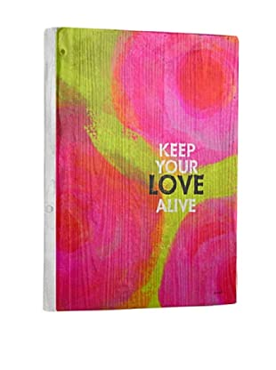 Lisa Weedn Keep Love Alive Reclaimed Finished Wood Portrait