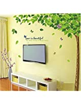 Wallcano Decals Design Bestselling Green Leaves Tree 9011 Wall Sticker