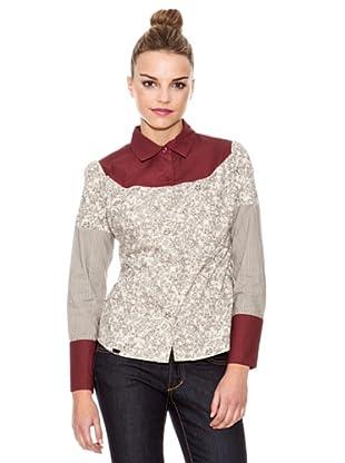 Laga Camisa Estampado Floral (Rojo / Beige)
