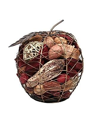 Jodhpuri Potpourri-Filled Wire Apple, Red